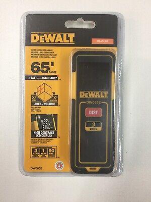 New Dewalt Dw065e Lightweight Laser Distance Measurer Tool 65ft Range