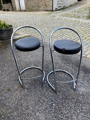 REDUCED!! 2 Leather Style Breakfast Bar Stool Metal Frames