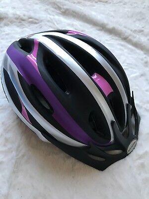 Schwinn Bike Helmet, Big Kids Large, Adjustable, Purple & Silver