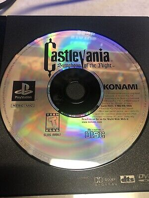 Castlevania: Symphony of the Night| DISC ONLY| Playstation| PS2| Tested Castlevania Symphony Of The Night Playstation