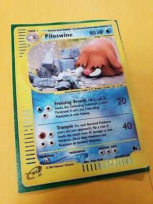 Piloswine H22/H32 Holo Rare, Skyridge e-Series e-Reader, Pokemon Card, MP