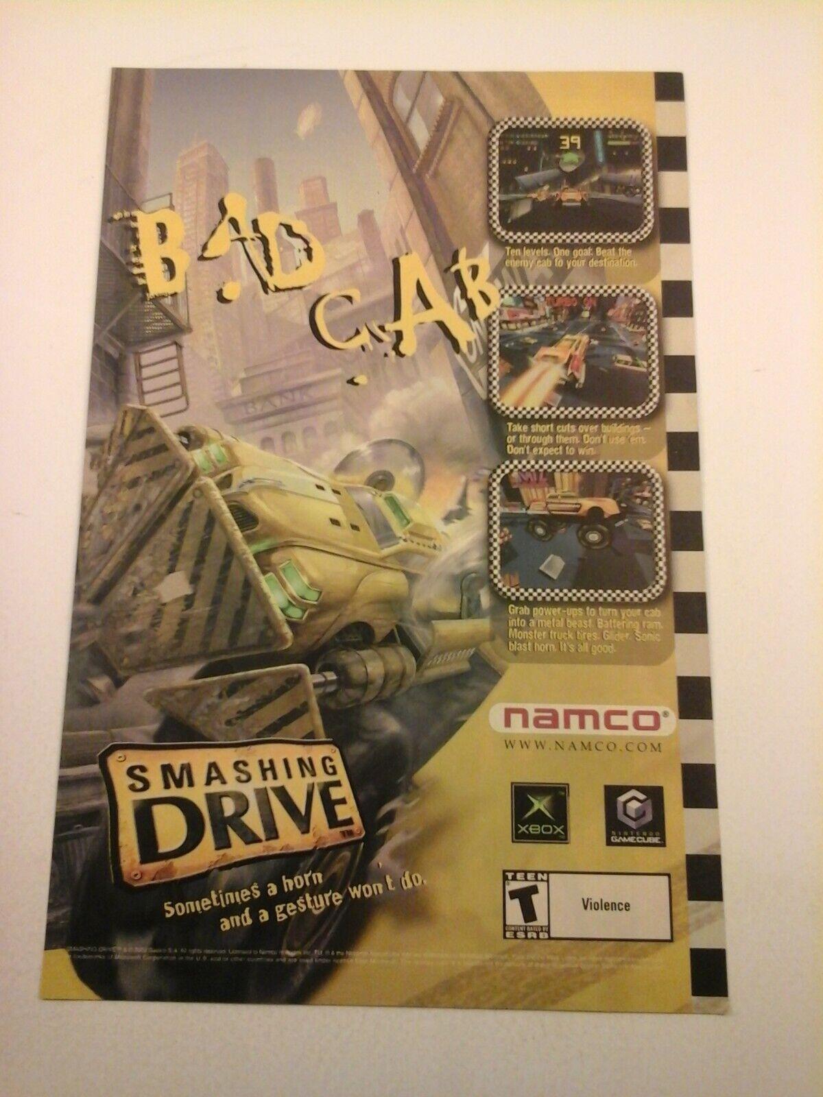 2001 Video Game Print Ad - Smashing Drive - XBOX GAMECUBE NAMCO - $7.98