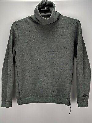 EUC Nike Mock Neck Long Sleeve Jacket Sweatshirt Marled Gray Size Medium Nike Mock Neck