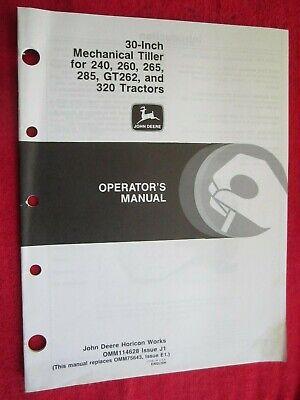 John Deere 240 260 265 285 320 Lawn Garden Tractor 30 Tiller Operators Manual