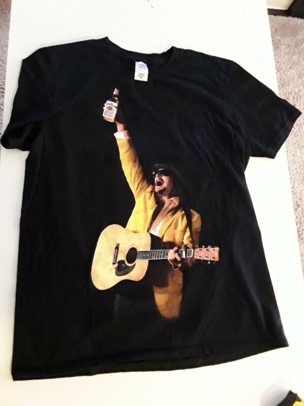 Kid Rock Jim Beam HNY Medium Black Double Sided Lets Get Sh*t Faced Tee Shirt