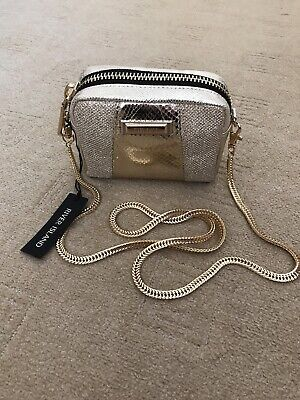Gold River Island Bag Clutch Crossbody RARE