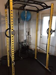 Power Rack and Adjustable Bench combo