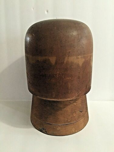 Vintage 2 Piece Wood Hat Mold  Hatters Supply House Chicago