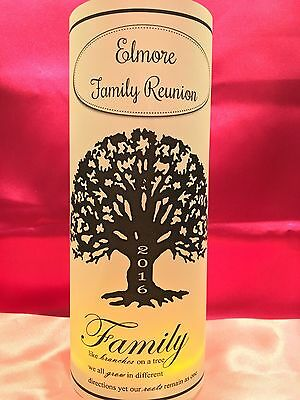 10 Personalized Family Reunion Luminaries Table Centerpieces Party Decorations - Paper Luminaries