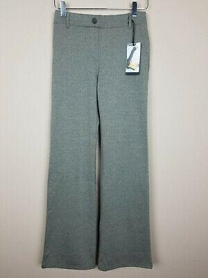 Betabrand Dress Yoga Pants Brown Tan Herringbone Medium Boot Cut Stretch M NWT