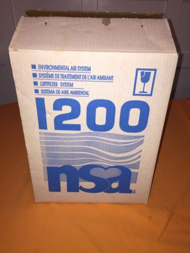 NSA I200 Model 1200 Environmental Air Filter System OEM, New In Box, Original