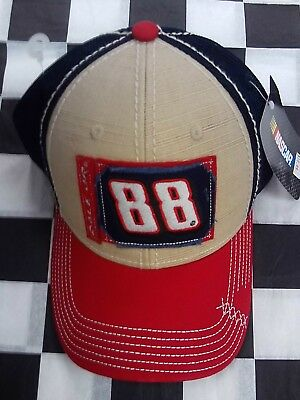 Dale Earnhardt Jr Junior #88 NASCAR Ball Cap Hat NEW Red Blue Tan Hendrick Motor Dale Earnhardt Jr Cap