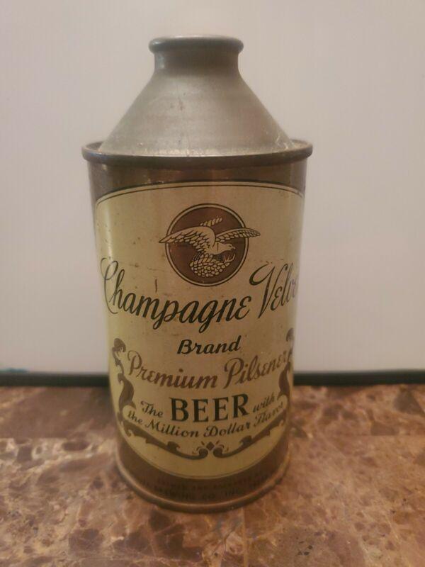 Champagne Velvet Premium Pilsener Cone Top Beer Can