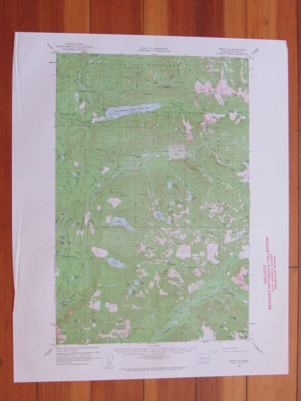 Mount Si Washington 1962 Original Vintage USGS Topo Map