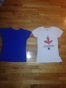 Two girl sport shirts (Pan am games and Fifa World Cup) 11-14