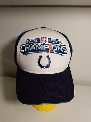 NFL  Super Bowl XLI  2007 Champions Indianapolis Colts  Reebok Hat (Super Bowl Xli Colts)