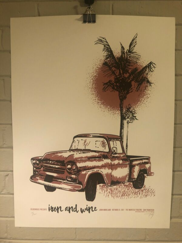 Iron and Wine with Guest John Moreland Signed and Numbered Show Screen print
