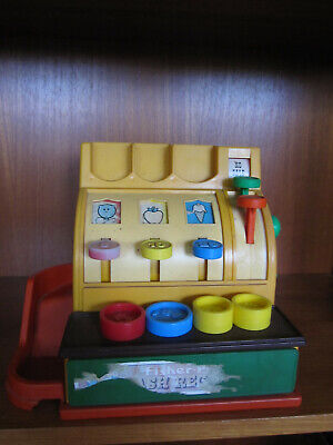 Vintage Fisher Price Cash Register with Coins 1974