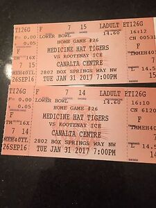 Two adult tickets too tonight's game vs kootenay
