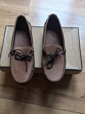 Men's H By Hudson Campo Calf Leather Moccasin - UK 7 Tan