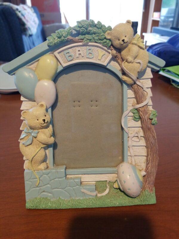 Baby Frame With 2 Teddy Bears