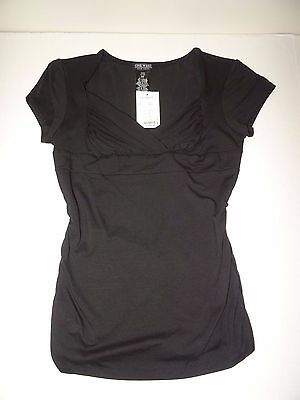 One West New York Black Knit Shirred Top Purchased At Von Maur Dept Store