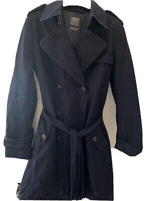 Ladies Navy Trench Coat Gap Size XS Uk 8