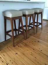 3 X Teak Parker Eames Retro Stools Charlestown Lake Macquarie Area Preview