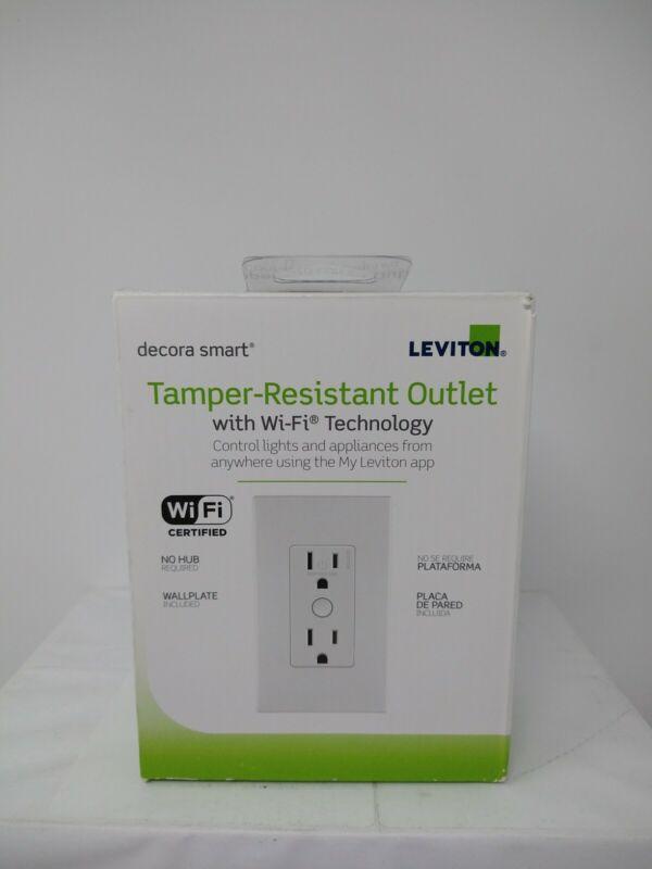 Leviton Decora Smart Wi-Fi Duplex Tamper Resistant Outlet R01-DW15R-1RW, #8512