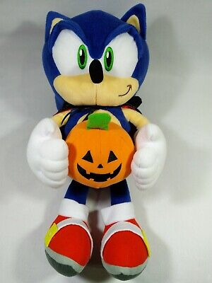 Sonic the Hedgehog Halloween Pumpkin Joypolis Plush Doll Toy Japan Sega 15