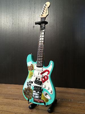 "Billie Joe Armstrong - His Favorite ""Blue"" Fender Stratocaster Guitar Miniature"