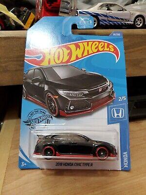 Hot Wheels 2018 18 Honda civic type r black