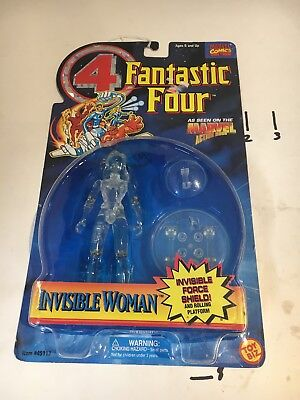 1995 Toy Biz Fantastic Four Invisible Woman Clear Figure Marvel Comics NEW