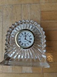 Crystal Legends By Godinger Shelf Clock-Great Condition-Free Shipping