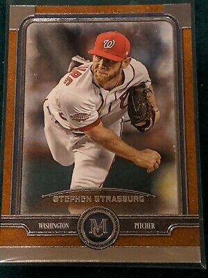 2019 TOPPS MUSEUM COLLECTION BRONZE SP PARALLEL STEPHEN STRASBURG NATIONALS # 9 ()