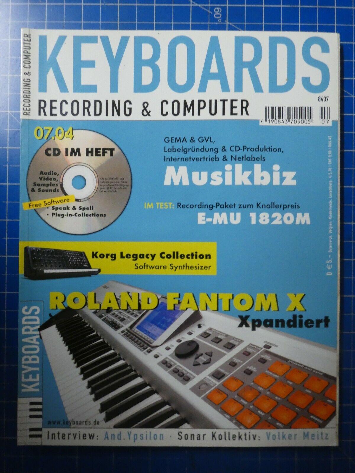 Keyboards Recording&Computer Juli 2004 Roland Fantom X Volker Meitz To624