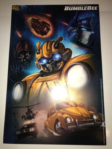 SDCC COMICCON BUMBLEBEE TRANSFORMERS MOVIE POSTER! RARE! NEW