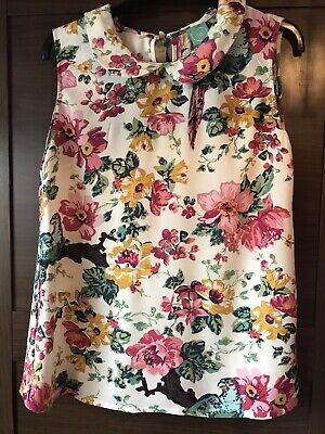 Joules Floral Tunic Top Size 12 Vgc!!