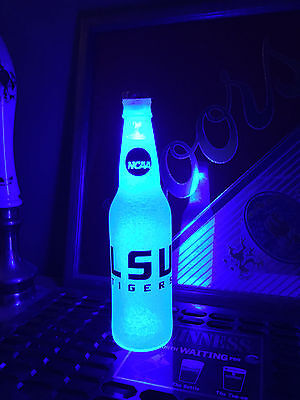 Lsu Tigers Bottle (NCAA LSU Tigers Football 12oz Beer Bottle Light LED March Madness )