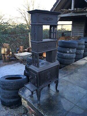 EV NO.58 Antique Scandinavian Wood Burning Stove, Beautiful cast iron, Very rare