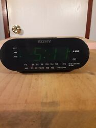 SONY ICF-C218 DREAM MACHINE Auto Time Set Alarm Clock Radio (Black)