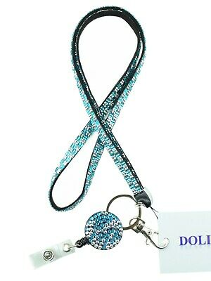 Bling Lanyards (Bling Necklace Lanyard and Rhinestone ID Retractable Reel with belt clip)