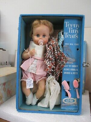 Vintage Tiny Tears Doll 12 with Case - Original Accessories, Several Outfits