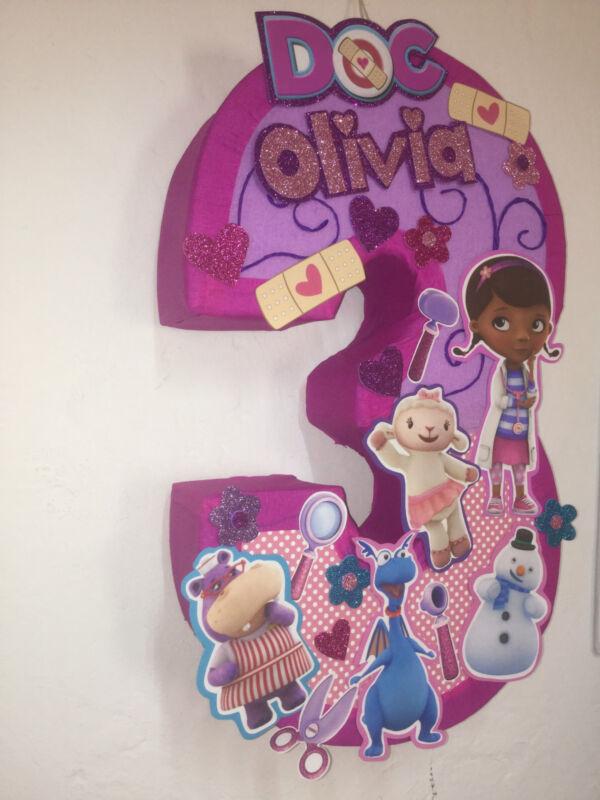 Doc McStuffins Pinata. Inspired. Doc. McmStuffins Birthday Party. Piñatas.