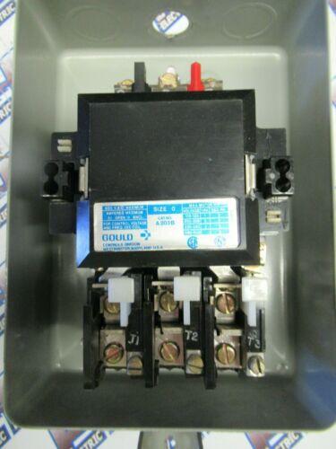 ITE GOULD A203B, Size 0 Motor Starter, 600 Volt, 3 Pole, 24 Volt Coil- S153