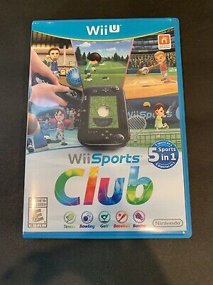 Wii Sports Club 5 In 1 (Nintendo Wii U, 2014) One Day Auction NO RESERVE