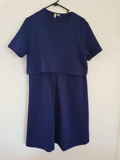 Navy size 12 Maternity Dress