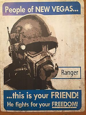 Tin Sign Vintage Fallout People Of New Vegas This Is Your Friend