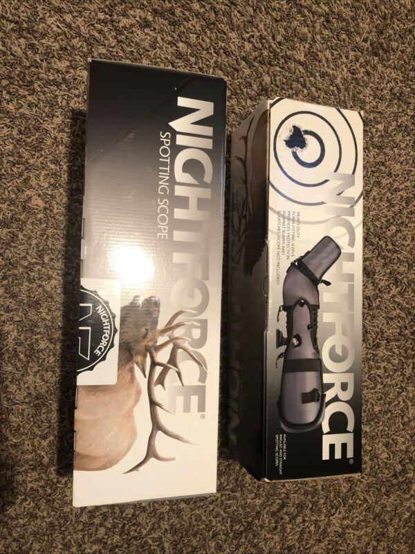 Nightforce TS-80 20-60x HD Spotting Scope with A414 Sleve BNIB
