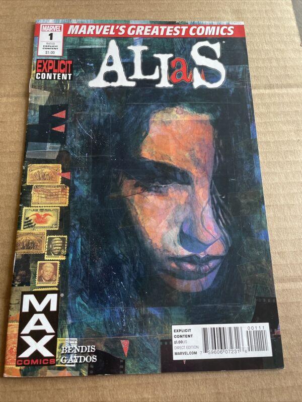Alias #1 {Marvel Greatest Comics 2010} Unread VF} 7 Actual Pics; {iii} &
